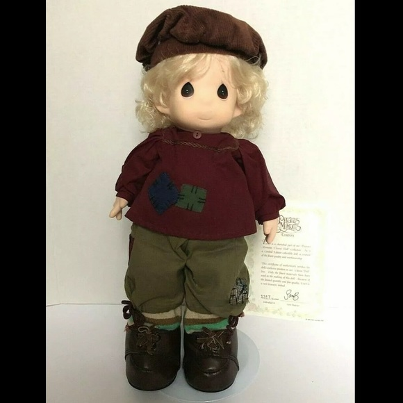 "Precious Moments 16"" Erich Plush Doll w/ Stand MIB"